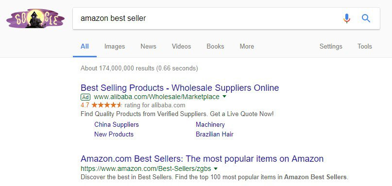 amazon search seller items