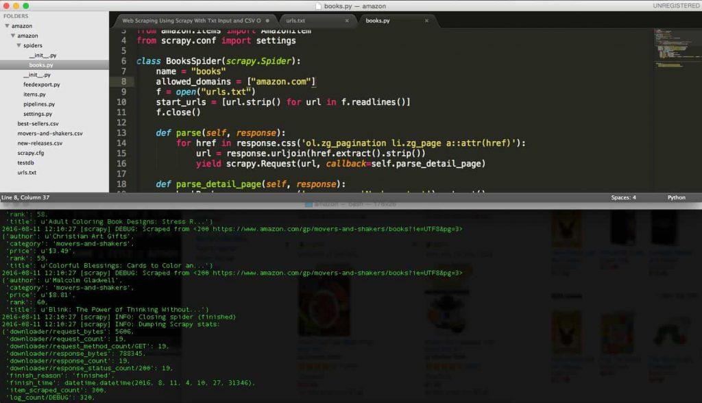 amazon scraper python script